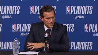 Quin Snyder Postgame Interview - Game 5   Jazz vs Rockets   May 8, 2018   2018 NBA Playoffs