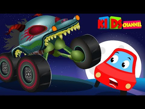 Kids Channel | Little Red Car | HHMT | hungry monster truck | scary songs for kids
