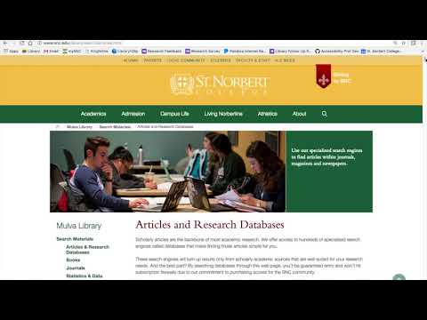 Mulva Library Website Walkthrough - College Jumpstart