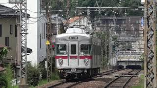 残り3編成となった、長野電鉄3500系運用、長野駅行き普通522列車、柳原駅で3000系と交換した、3500系運用信州中野駅行き普通527列車。
