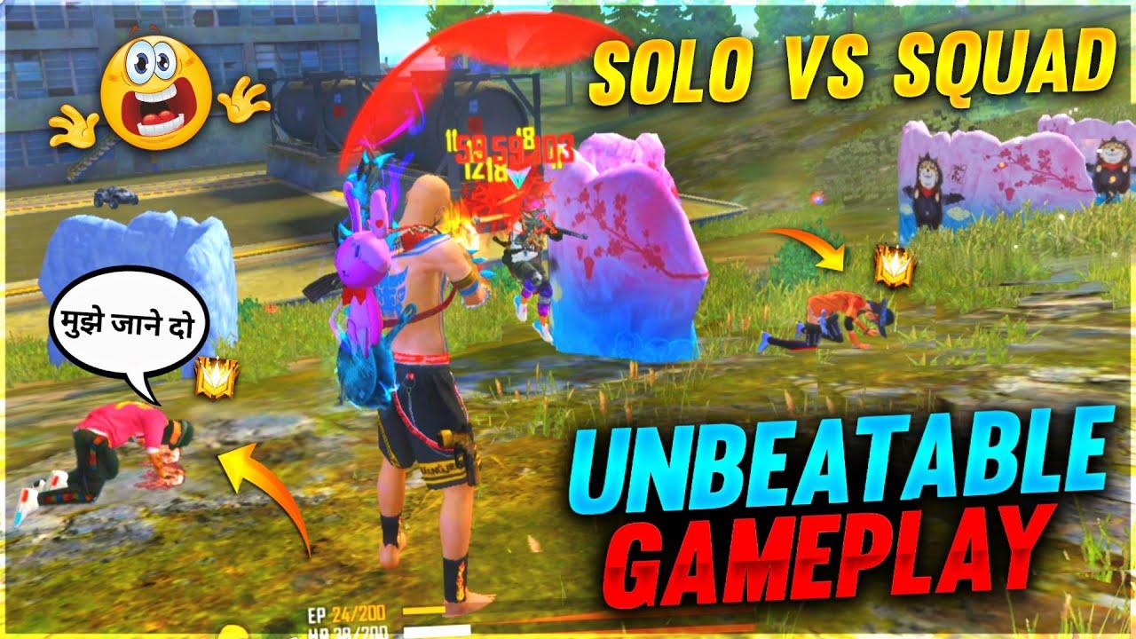 Solo Vs Squad Total Paisa Vasool Gameplay 😂 Must Watch || FireEyes Gaming || Garena Free Fire