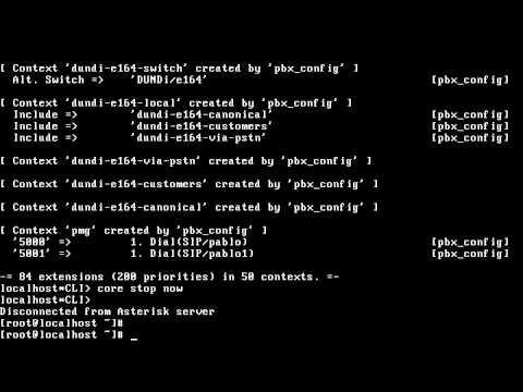 Configuración Asterisk (usuarios SIP y dialplan) part.4 Servidor Asterisk