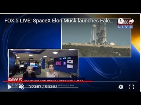 FOX 5 LIVE: SpaceX Elon Musk launches Falcon Heavy, most powerful rocket on planet - WATCH LIVE