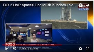 FOX 5 LIVE (2/6): SpaceX launches Falcon Heavy, most powerful rocket on planet times two