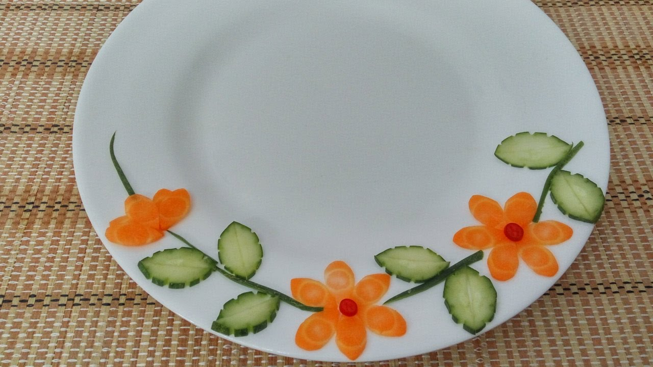 & Vegetable Plate Decoration (01) || Vietnam Food Channel - YouTube