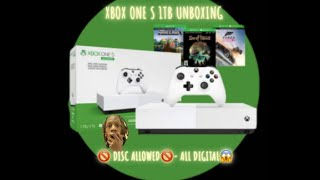 XBOX ONE S 1TB ALL DIGITAL UNBOXING/REVEW