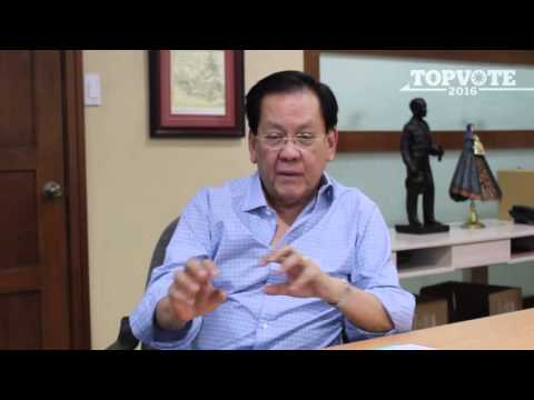 Serge Osmeña on running as an independent candidate