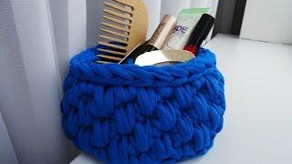 How to make crochet basket | Cestino in fettuccia | handmade