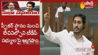 CM YS Jagan Fires on TDP MLAs over Abusing Speaker in Assembly | Sakshi TV