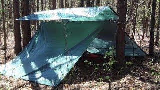 Rainy Snowy Version Of El Cheapo Heated Tarp Shelter