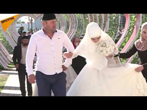 Grozni'nin 199. yıl dönümünde 199 çift evlendi