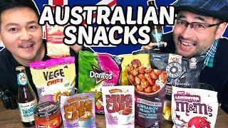 Japanese Trying Australian Snacks