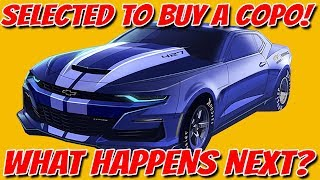 I was selected to buy a COPO Camaro!  Here's what it is like...