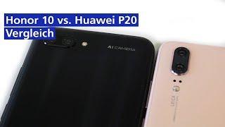 Honor 10 vs Huawei P20 im Vergleich (deutsch HD)