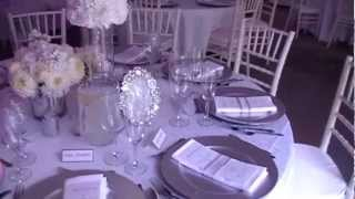 Glittered Table Numbers- Wedding Tour