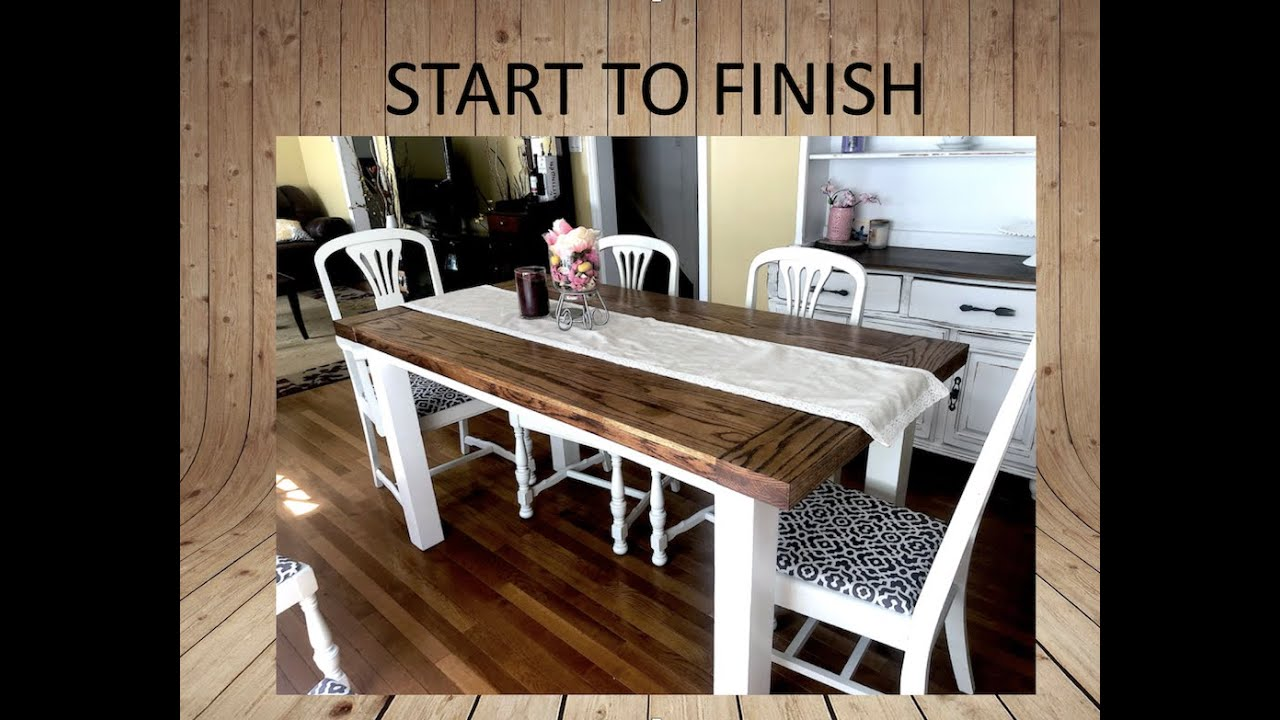 How To Make A Farmhouse Table Youtube