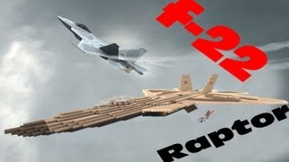 Minecraft: F-22 Raptor + Download / Descarga | Figthter jet / Caza / Avión de combate