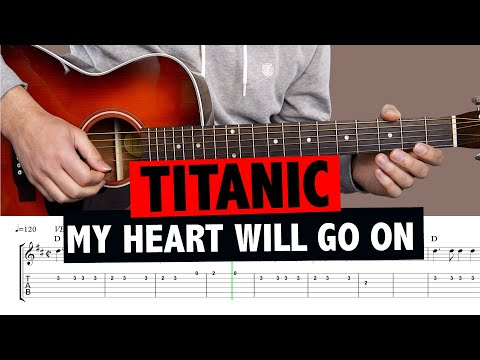 Titanic - My Heart Will Go On // Easy Guitar Tutorial (MELODY)