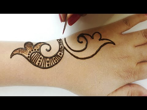 Amazing Arabic Henna Mehndi || Bharma Full Hand New Mehndi Design 2020||बहुत आसान मेहँदी लगाना सीखे