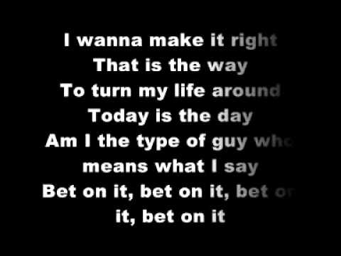 Bet on it lyrics youtube mlb baseball betting lines