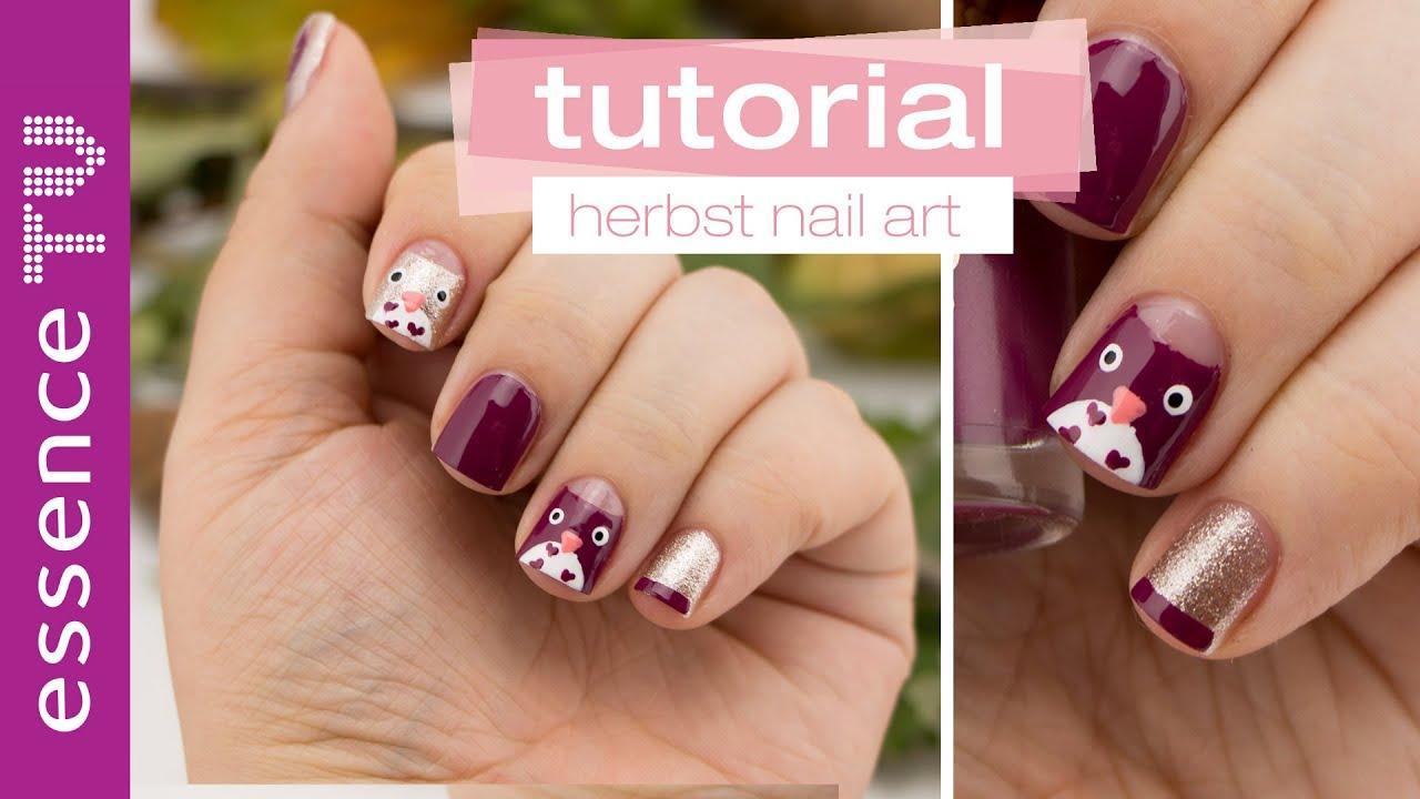 Nageldesign nail art tutorial deutsch niedliche eulen for Nageldesign tutorial