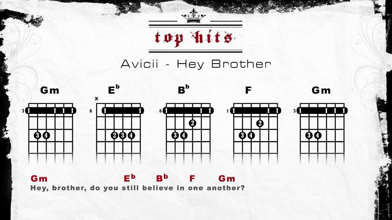 Avicii Hey Brother Lyrics Chords Guitar Tabs Youtube