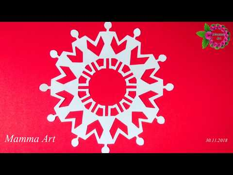 DIY - Paper Angel Snowflakes | Community Symbol making with Paper cutting