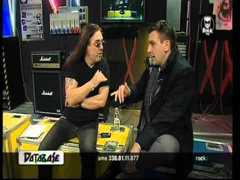 Pino Scotto con Roberto Poletti di Antenna3