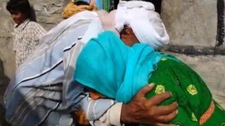 أنا الشاهد: يمنية تلتقي بأخيها بعد 15 عاما بعد فتح طريق وعر