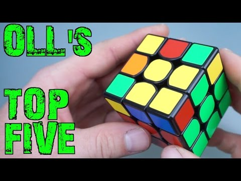 My Top 5 Favorite OLL Algorithms | Tutorial