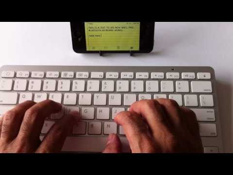 eBay Bluetooth Keyboards for iPhone, iPad or iPod Touch Review - 720P iPhone 4 Video
