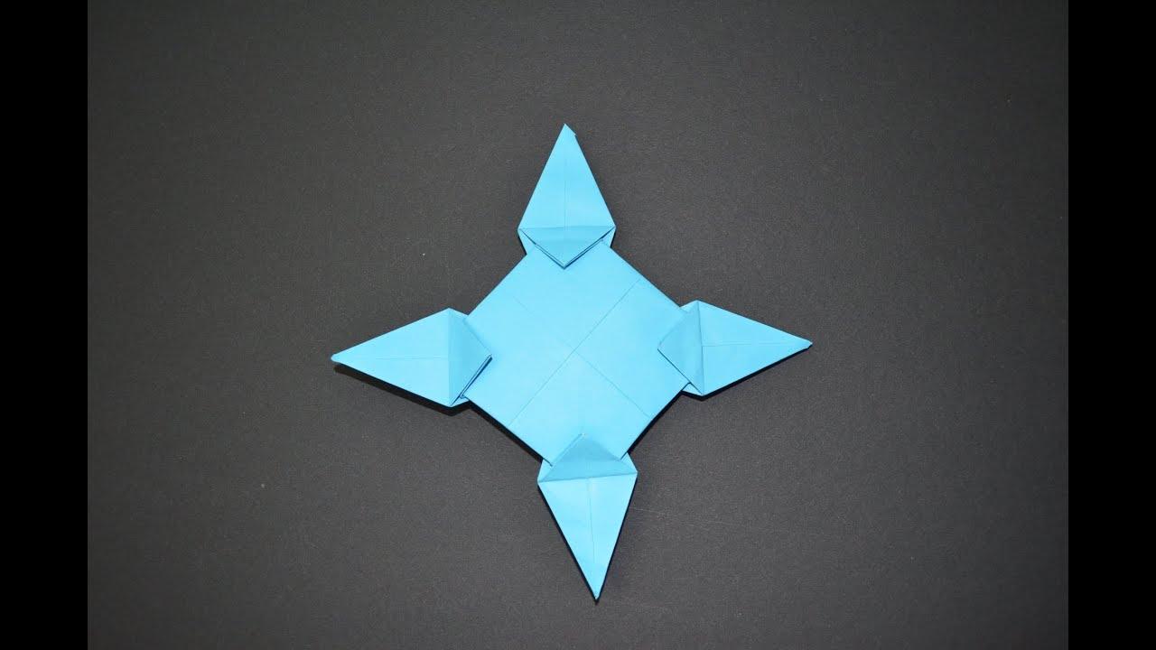 Como hacer una estrella ninja de papel shuriken de papel - Estrellas de papel ...