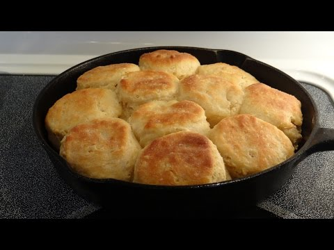 Southern Angel Biscuits, Mamaw's Recipe too! Let's Cook 'em Up in a Cast Iron Skillet