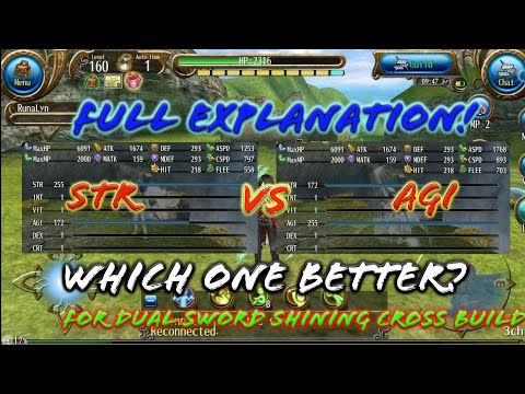Dual Sword Stats: Str n Agi or Agi n Str? Which one better? (For Damage Explanation) - Toram Online