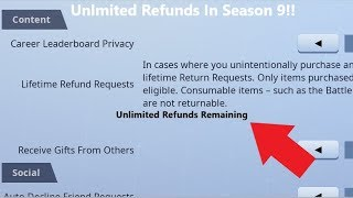 *WORKING* How To Get UNLIMITED REFUNDS In Fortnite! (Season 9)