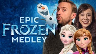 Repeat youtube video Colleen Ballinger & Peter Hollens - Best Frozen Medley EVER! DUH! :)