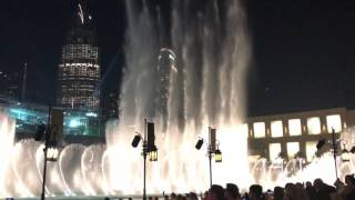 Enrique Iglesias Fountain view Dubai