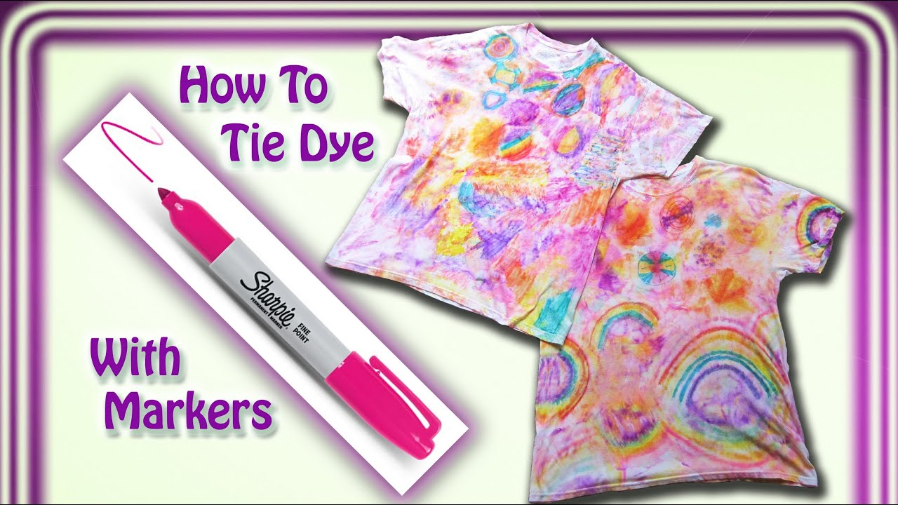 Diy tie dye t shirt with sharpie markers youtube for Making a tie dye shirt