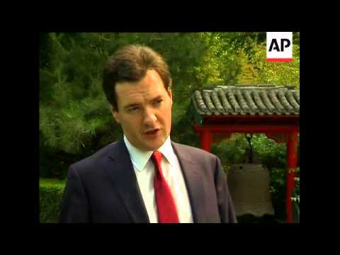 British Chancellor of the Exchequer visits China, comments