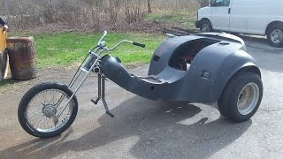 rb vw trike 61 body on for a test fit and fitting of other parts