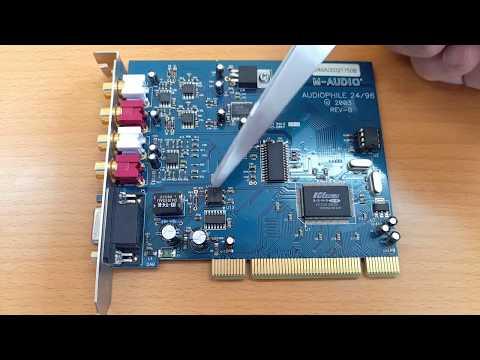 Профессиональная звуковая карта M-Audio Audiophile 24/96. Распаковка и обзор аппаратной части.