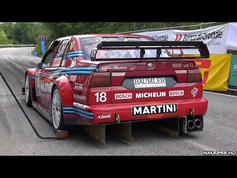 Alfa Romeo 155 DTM V6 Ti EPIC Sound  46° Cronoscalata Verzegnis - TURN UP THE VOLUME