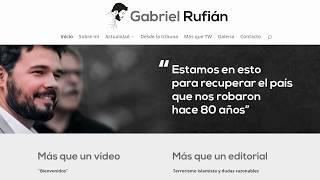 Gabriel Rufián estrena web