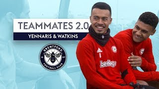 Which player brushes their teeth FIVE TIMES a day?! | Yennaris & Watkins | Brentford Teammates