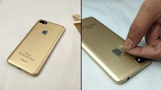 Download Redmi 6a converted in Iphone XS Just Gold apple lamination wrap skin Mp3 and Videos