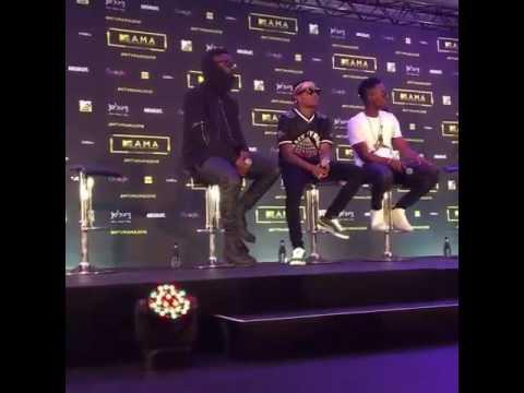 Wizkid, Patoranking & Sarkodie At The MTV Base MAMA Awards Press Conference