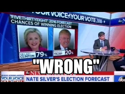 """Nate Silver FiveThirtyEight's TERRIBLE Election Day Prediction """"WRONG!"""""""