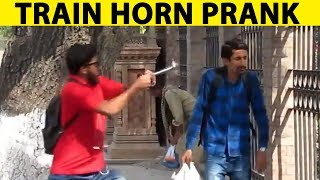Train Horn Prank | GONE WRONG |  LAHORI PRANKSTAR