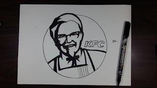 KFC 할아버지 그리기 / how to draw KFC Logo