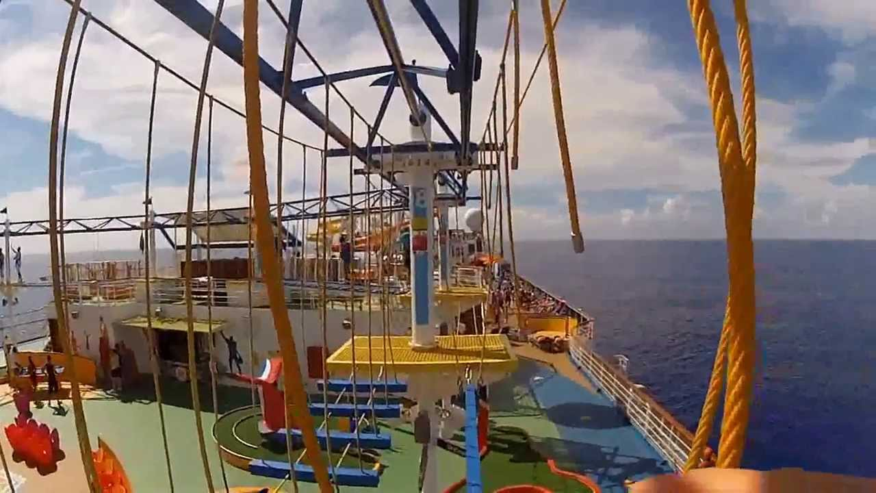 Carnival Breeze Rope Course First Person POV Chest Mount - YouTube